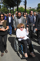 Marek Halter during the funeral ceremony of French designer Sonia Rykiel at the Montparnasse cemetery in Paris, France on September 1, 2016. The 86 years old pioneer of Parisian womenswear from the late 1960's onwards, has died from a Parkinson's disease-related illness. Photo by Alban Wyters/ABACAPRESS.COM