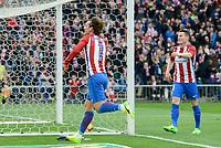 Atletico de Madrid's Antoine Griezmann celebrating a goal during La Liga match between Atletico de Madrid and Valencia CF at Vicente Calderon Stadium  in Madrid, Spain. March 05, 2017. (ALTERPHOTOS/BorjaB.Hojas)