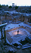 The Ancient Corinth was first inhabited in the Neolithic Period, about 5000-3000 B.C. but peaked in the 8th century until it was destroyed in 146 B.C.  The city had small shrines, shops, fountains, baths and other public buildings.