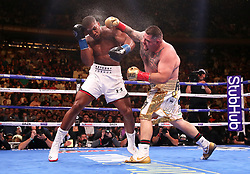 Anthony Joshua (left) in action against Andy Ruiz Jr in the WBA, IBF, WBO and IBO Heavyweight World Championships title fight at Madison Square Garden, New York.