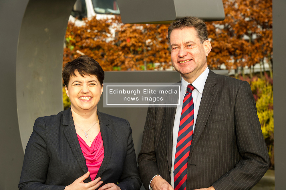 Pictured: Ruth Davidson and Murdo Fraser<br /> <br /> Scottish Conservatives leader Ruth Davidson and shadow finance secretary Murdo Fraser headed to Edinburgh Airport to meet Ahmet Serhat Sari, Turkish Airlines General manager for Scotland, 4 years after the airline opened up the route from the capital to Ankera. Ms Davison was keen to discuss the expansion of the Scottish economy.<br /> <br /> Ger Harley   EEm 9 December 2016