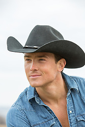 Portrait of a sexy All American cowboy