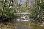 Bridge over the Salmon River at Williams Park in Langley, British Columbia, Canada.