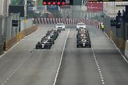 Start of the F3 qualifying race with Joel ERIKSSON, Motopark with VEB, Dallara Volkswagen and Lando NORRIS, GBR, Carlin, Dallara Volkswagen<br /> <br /> 64th Macau Grand Prix. 15-19.11.2017.<br /> Suncity Group Formula 3 Macau Grand Prix - FIA F3 World Cup<br /> Macau Copyright Free Image for editorial use only