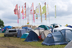 Festival goers' tents at WOMAD (World of Music; Arts and Dance) Festival; Charlton Park; Malmesbury; 2007,