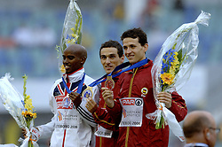 13-08-2006 ATLETIEK: EUROPEES KAMPIOENSSCHAP: GOTHENBURG <br /> 5000 meter - Farah, Mohammed  GBR, Espana, Jesus en Higuero, Juan Carlos SPA<br /> ©2006-WWW.FOTOHOOGENDOORN.NL