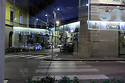 night street view from inside