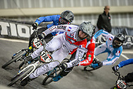 #174 (DEROM Quentin) FRA at Round 2 of the 2019 UCI BMX Supercross World Cup in Manchester, Great Britain