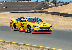 June 22, 2018 - Sonoma, CA, U.S. - SONOMA, CA - JUNE 22: Michael McDowell, driving the #(34) Ford for Front Row Motorsports heading into turn 10  on Friday, June 22, 2018 at the Toyota/Save Mart 350 Practice day at Sonoma Raceway, Sonoma, CA (Photo by Douglas Stringer/Icon Sportswire) (Credit Image: © Douglas Stringer/Icon SMI via ZUMA Press)