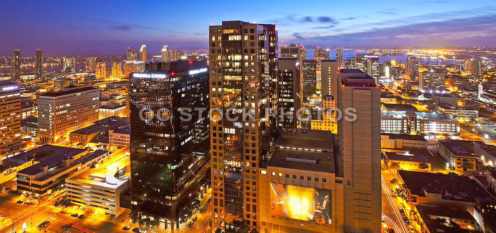 Sunset Skyline Of San Diego