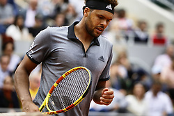 May 29, 2019 - Paris, France - Jo Wilfried Tsonga play against Japan's Kei NISHIKORI during their men's singles second round match on day four of The Roland Garros 2019 French Open tennis tournament in Paris on May 29, 2019. (Credit Image: © Ibrahim Ezzat/NurPhoto via ZUMA Press)