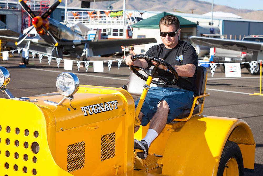 """Tugnaut"", the tug for ""Argonaut"", a Hawker Sea Fury.  2012 Reno Air Races."