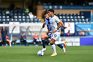 Swansea City midfielder Morgan Gibbs-White (11) and Wycombe Wanderers Nick Freeman (22) during the EFL Sky Bet Championship match between Wycombe Wanderers and Swansea City at Adams Park, High Wycombe, England on 26 September 2020.