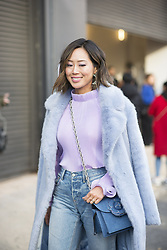 February 13, 2018 - New York, UNITED STATES - 3 1 Phillip Lim.PEOPLE ON STREET, PPL, STREETSTYLE, WOMAN, NEW YORK FASHION WEEK 2018 WOMEN READY TO WEAR FOR AUTUMN, WOMEN FALL HERBST, USA UNITED S.NYstrW18 (Credit Image: © PPS via ZUMA Wire)