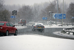 ©under license to London News Pictures. 02/12/2010 -  M1, J23. Very bad weather condition at M1 between Leicester and Nottingham. However motorway's surface  is  safe enough  to travel at 70mph.  Credit should be read as: Michael Zemanek / LNP