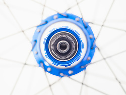 Spokes and hub of lightweight bicycle