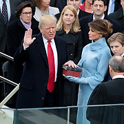 Donald Trump is sworn in as the 45th President of the United States during the 58th presidential inauguration on Friday, January 20, 2017 at the U.S. Capitol.