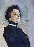 Actress Maria Yermolova' (1853-1928), 1905, detail.   Portrait by Valentin Serov (1865-1911) Russian painter.  Female