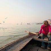 The boatmen that row the boats along the ghats of Varanasi