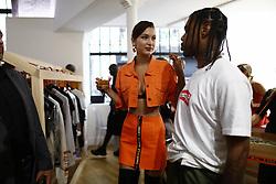 June 22, 2017 - Paris, France - Bella Hadid and Travis Scott attend the Heron Preston Presentation Man Menswear Spring/Summer 2018 show as part of Paris Fashion Week on June 22, 2017 in Paris, France. (Credit Image: © Mehdi Taamallah/NurPhoto via ZUMA Press)