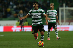 December 17, 2017 - Lisbon, Lisbon, Portugal - Sportings forward Marcos Acuna from Argentina  during Premier League 2017/18 match between Sporting CP and Portimonense SC,.at Alvalade Stadium in Lisbon on December 17, 2017. (Credit Image: © Dpi/NurPhoto via ZUMA Press)