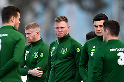 Republic of Ireland's Aiden O'Brien (centre) on the pitch prior to the UEFA Euro 2020 Qualifying, Group D match at the Victoria Stadium, Gibraltar.