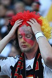 23.06.2010, Olympiapark, Muenchen, GER, FIFA Worldcup, Puplic Viewing Ghana vs Deutschland  im Bild Fan entteuscht , EXPA Pictures © 2010, PhotoCredit: EXPA/ nph/  Straubmeier / SPORTIDA PHOTO AGENCY