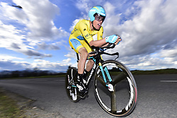 March 7, 2018 - Saint Etienne, France - SAINT-ETIENNE, FRANCE - MARCH 7 : SANCHEZ Luis Leon  (ESP)  of Astana Pro Team in action during stage 4 of the 2018 Paris - Nice cycling race, an individual time trial over 18,4 km from La Fouillouse to Saint-Etienne on March 07, 2018 in Saint-Etienne, France, 7/03/2018 (Credit Image: © Panoramic via ZUMA Press)