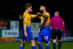 Kane Hemmings of Mansfield Town comforts a dejected Danny Rose of Mansfield Town after missing the target - Mandatory by-line: Ryan Crockett/JMP - 06/03/2018 - FOOTBALL - One Call Stadium - Mansfield, England - Mansfield Town v Lincoln City - Sky Bet League Two
