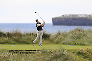 James Fox (Portmarnock) on the 4th tee during Matchplay Round 2 of the South of Ireland Amateur Open Championship at LaHinch Golf Club on Friday 22nd July 2016.<br /> Picture:  Golffile | Thos Caffrey<br /> <br /> All photos usage must carry mandatory copyright credit   (© Golffile | Thos Caffrey)