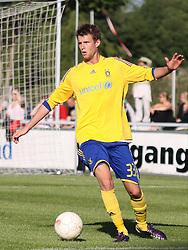 FODBOLD: Daniel Stenderup (Brøndby) under opvisningskampen mellem Elite 3000 Helsingør og Brøndby IF den 16. juni 2010 på Helsingør Stadion. Foto: Claus Birch