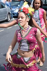 Dancers having fun at the Nottingham City Carnival; 2007,