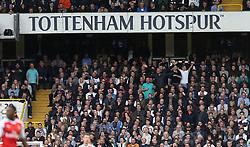 30 April 2017 London : Premier League Football : Tottenham Hotspur v Arsenal :<br /> Tottenham supporters celebrate victory.<br /> Photo: Mark Leech