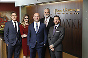 SHOT 1/8/19 12:19:46 PM - Bachus & Schanker LLC lawyers James Olsen, Maaren Johnson, J. Kyle Bachus, Darin Schanker and Andrew Quisenberry in their downtown Denver, Co. offices. The law firm specializes in car accidents, personal injury cases, consumer rights, class action suits and much more. (Photo by Marc Piscotty / © 2018)