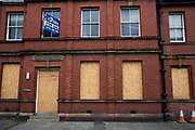 A boarded up and closed down magistrates court, Whitley Bay,  Northumberland. UK. (photo by Andrew Aitchison / In pictures via Getty Images)