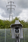 Charging point for the Ecolink zero emissions buses in Nottingham, Nottinghamshire, United Kingdom. Nottingham uses electric buses as part of the council's plan to clear the city air and become more eco-friendly. (photo by Andrew Aitchison / In pictures via Getty Images)