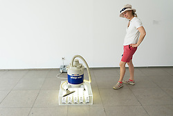 Jeff Koons New Shop-Vac Wet/Dry , 1980 at Hamburger Bahnhof art museum in Berlin, Germany