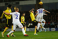 Coventry City defender Jordan Willis (4) scores an own goal 1-0 during the EFL Sky Bet League 1 match between Burton Albion and Coventry City at the Pirelli Stadium, Burton upon Trent, England on 17 November 2018.