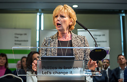 © Licensed to London News Pictures. 23/04/2019. Bristol, UK. ANNA SOUBRY MP at the Change UK – The Independent Group holding their European election campaign launch at We The Curious in Bristol's Millennium Square. Photo credit: Simon Chapman/LNP