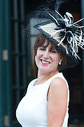 Trida Kelly, Canterbury, Kent at the Hotel Meyrick Most Stylish Lady event on ladies day of The Galway Races. Photo:Andrew Downes