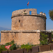 Ancient Hidirlik Tower in Antalya old town, Turkey