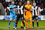 Duckens Nazon of St Mirren makes his presence felt during the Ladbrokes Scottish Premiership match between St Mirren and Livingston at the Simple Digital Arena, Paisley, Scotland on 2nd March 2019.