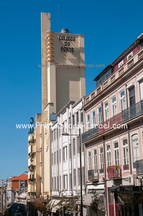 facade of the Coliseu do Porto theater in Rua. de Passos Manuel, Porto, Portugal