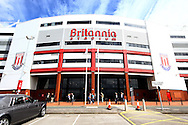 a General view outside the Britannia stadium. Barclays Premier League match, Stoke city v West Bromwich Albion at the Britannia stadium in Stoke on Trent, Staffs on Saturday 29th August 2015.<br /> pic by Chris Stading, Andrew Orchard sports photography.