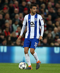 March 6, 2018 - Liverpool, U.S. - 6th March 2018, Anfield, Liverpool, England; UEFA Champions League football, round of 16, 2nd leg, Liverpool versus FC Porto; Diego Reyes of Porto controls the ball in space and looks up for a team mate  (Photo by Dave Blunsden/Actionplus/Icon Sportswire) ****NO AGENTS---NORTH AND SOUTH AMERICA SALES ONLY****NO AGENTS---NORTH AND SOUTH AMERICA SALES ONLY* (Credit Image: © Dave Blunsden/Icon SMI via ZUMA Press)