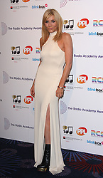 MICHELLE COLLINS arrives for the Radio Academy Awards, London, United Kingdom. Monday, 12th May 2014. Picture by i-Images