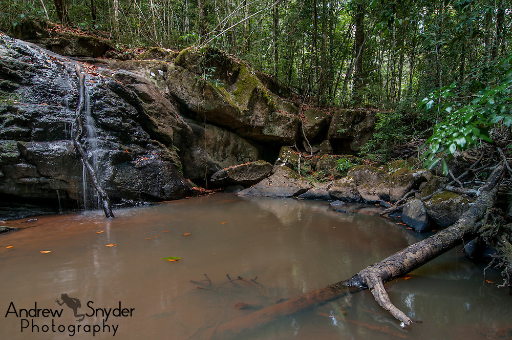 A small waterfall within Kusad Mountain.