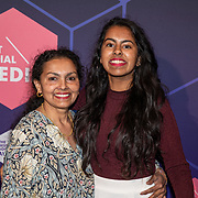 NLD/Amsterdam/20190613 - Inloop uitreiking De Beste Social Awards 2019, Ambrien Moeniralam en haar moeder