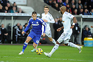 Eden Hazard of Chelsea in action.Barclays Premier League match, Swansea city v Chelsea at the Liberty Stadium in Swansea, South Wales on Saturday 17th Jan 2015.<br /> pic by Andrew Orchard, Andrew Orchard sports photography.
