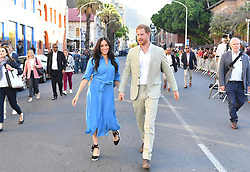 The Duke and Duchess of Sussex after a visit to the District Six Museum in Cape Town, South Africa, on the first day of their tour of Africa.